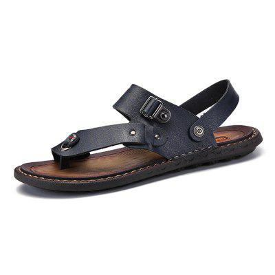Men Leisure Dual-use Microfiber Leather Sandals