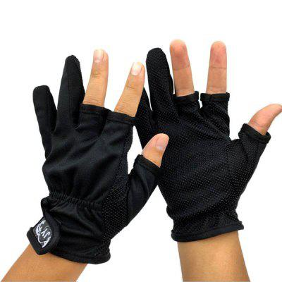 Pair of Three Half-finger Breathable Lightweight Gloves