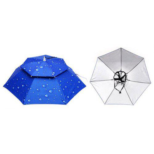 454354fd48100 Outdoor Parasol Hat Umbrella Cap for Traveling Fishing