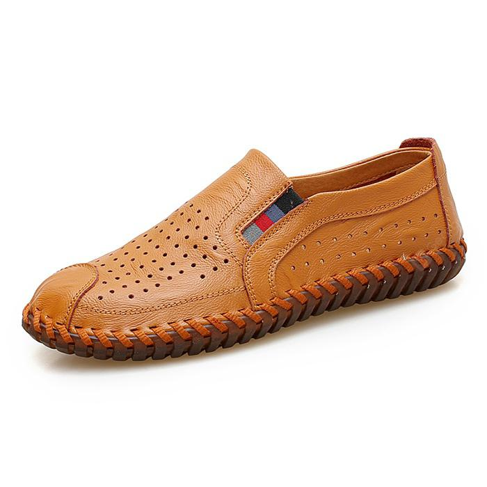 Men Trendy BreathableHandcrafted LeatherCasual Shoes
