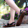 Men Leisure Hollow-out Dual-use Leather Sandals - BLACK
