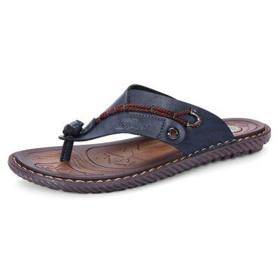 Men Stylish Microfiber Leather Flip-flops Slippers