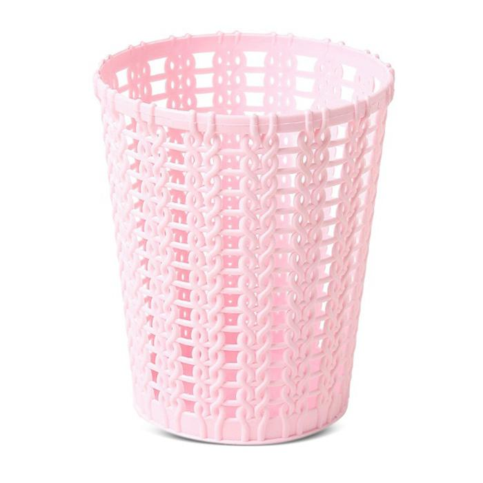 Mini Hollow-out Trash Bin Table Dustbin Sundries Barrel