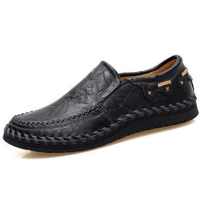 Men Trendy Handcrafted Slip-On Leather Casual Shoes