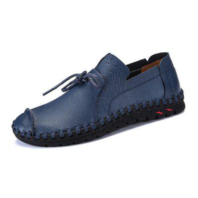 Men Slip-On Handcrafted Microfiber Leather Casual Shoes