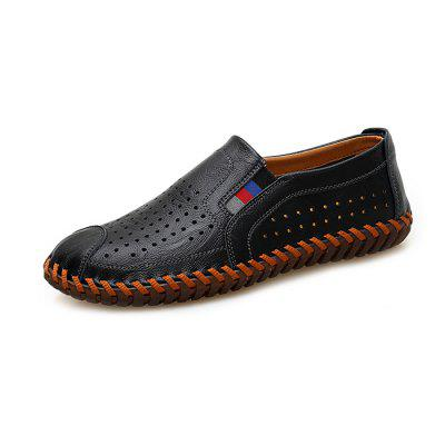 Plus Size Leisure Hollow out Leather Loafer Shoes for Men