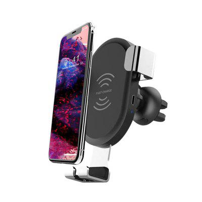BQ001 Fast Wireless Charging Mount Phone Gravity Holder - BLACK