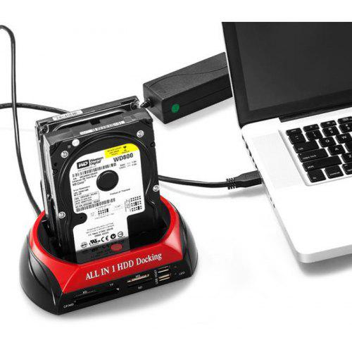 875 SATA + IDE Dual Slots All-in-one HDD Docking Station