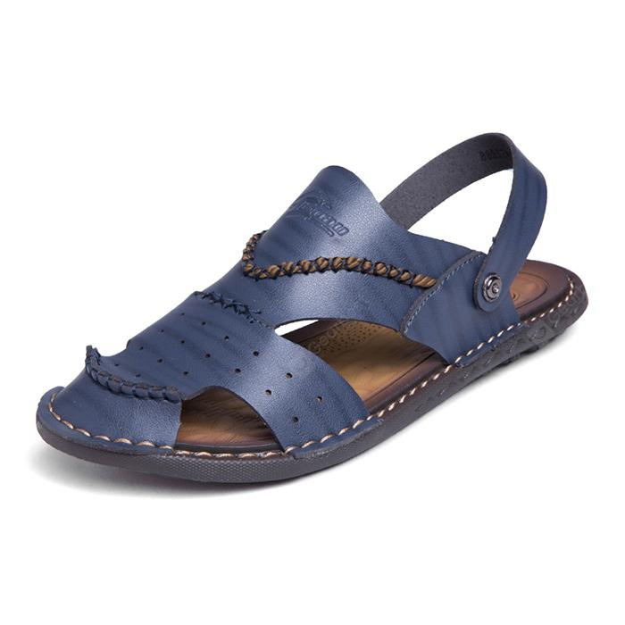 Men Leisure Outdoor Dual-use Microfiber Leather Sandals