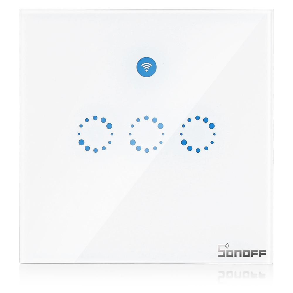 SONOFF T1 3 Gang Smart Wall Touch Switch with RF