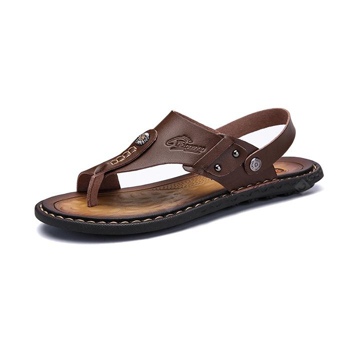 buy cheap manchester great sale discount cheapest price Men Leisure Dual-use Microfiber Leather Sandals looking for online kOTiDAeM