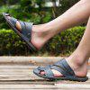 Men Leisure Outdoor Dual-use Microfiber Leather Sandals - STEEL BLUE