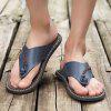 Men Stylish Breathable Microfiber Leather Flip-flops Slippers - LAPIS BLUE