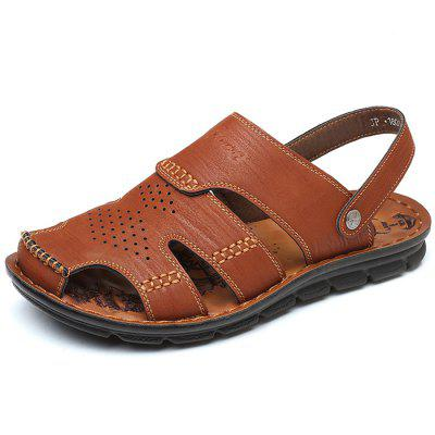 Men Stylish Hollow-out HandcraftedDual-use Sandals