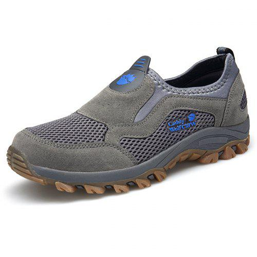 Men's Shoes Shoes Fine Zero Summer Breathable Mesh Shoes Mens Casual Shoes Genuine Leather Slip On Brand Fashion Summer Shoes Man Soft Comfortable
