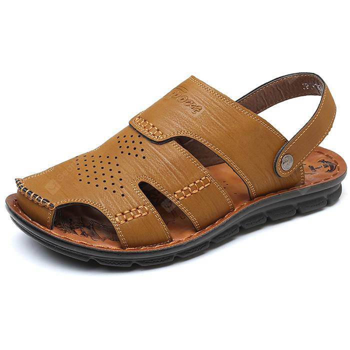 Men Stylish Hollow-out Handcrafted Dual-use Sandals