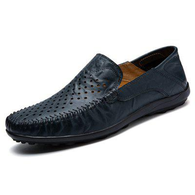 Men Trendy Breathable Anti-slip Leather Casual Shoes