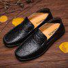Men Trendy Breathable Anti-slip Leather Casual Shoes - BLACK