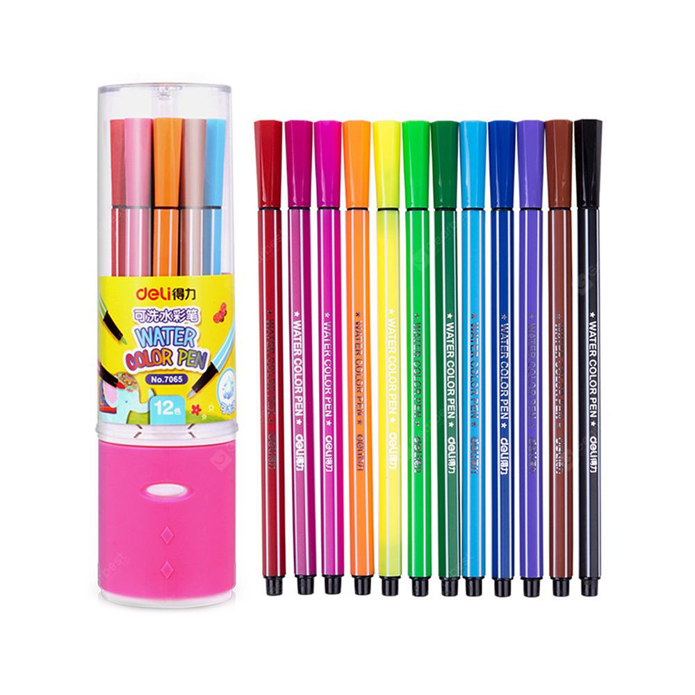 Deli 7065 Washable Watercolor Pens 12PCS - COLORMIX
