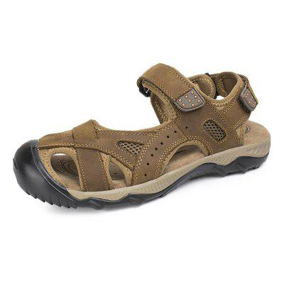 Plus Size Leather Casual Sandals Shoes for Men