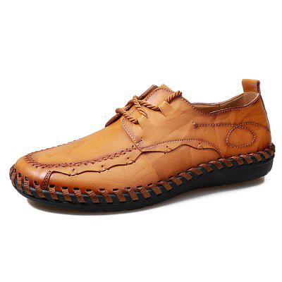 Plus Size British Style Lace-up Leisure Shoes for Men