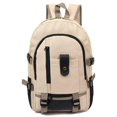 Men Trendy Outdoor Large Capacity Canvas Backpack