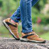 Men Outdoor Leisure Anti-slip Leather Hiking Athletic Shoes - CAMEL BROWN