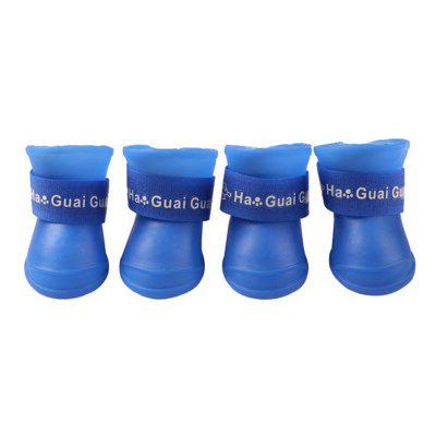 Candy-colored Pet Rain Boots 4pcs