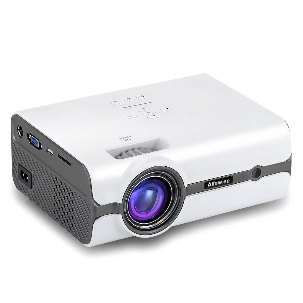 Alfawise A11 LCD 2000 Lumens Home Theater Mini Projector - WHITE EU PLUG (ANDROID OS)