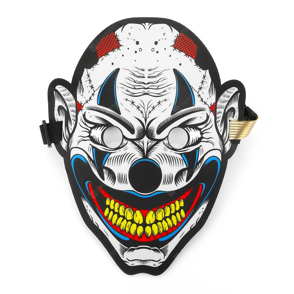 Sound Reactive Clown Mask with LED Light for Party