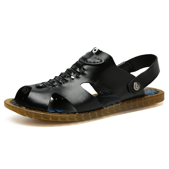 Men Leisure Dual-use Anti-slip Leather Sandals