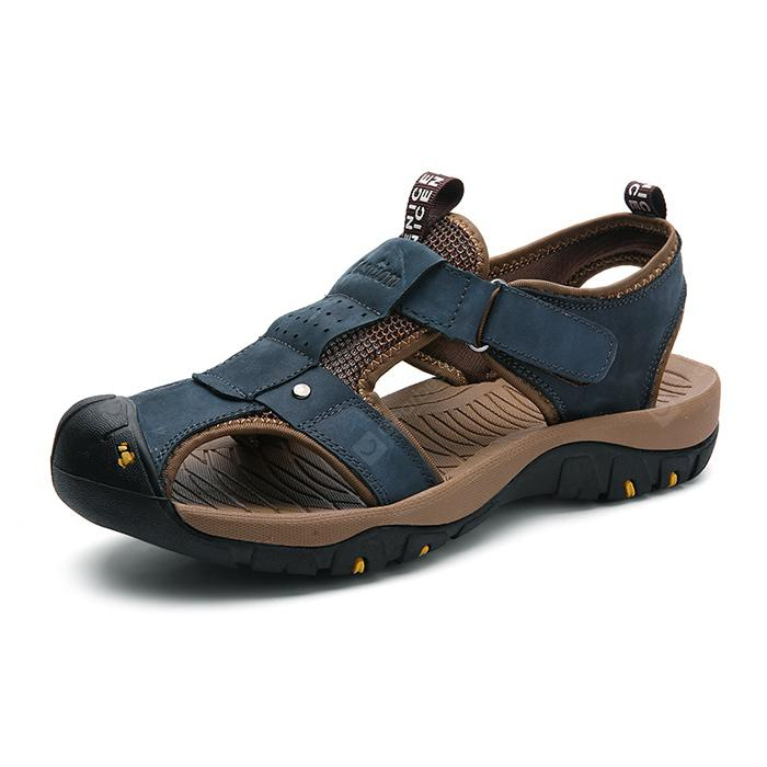Male Durable Summer Anti-slip Leather Sandals