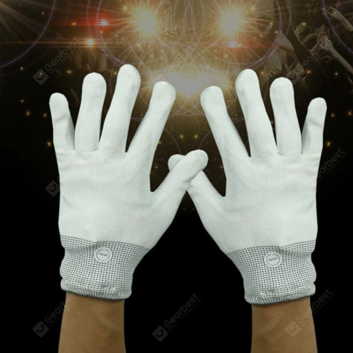 Pair of LED Glowing Gloves Battery Powered