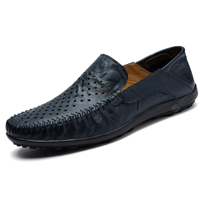 Male Breathable Casual Hollow-out Leather Shoes