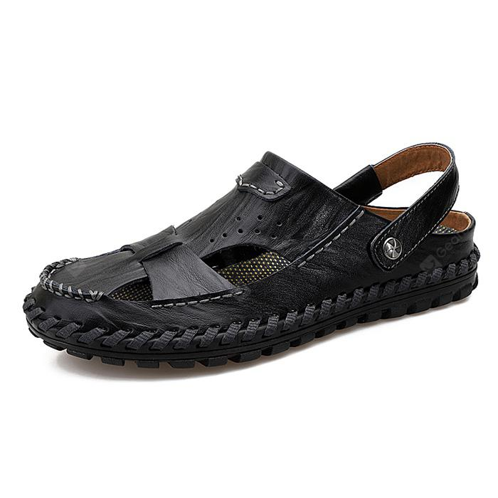 Men Handcrafted Dual-use Leather Sandals
