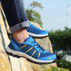 Men Outdoor Breathable Anti-slip Hiking Athletic Shoes - DEEP SKY BLUE