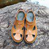 Men Handcrafted Dual-use Leather Sandals - BROWN