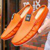 Comfortable Leather Slipper Casual Loafer Shoes for Men - ORANGE