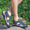 Male Durable Summer Anti-slip Leather Sandals - BLUE