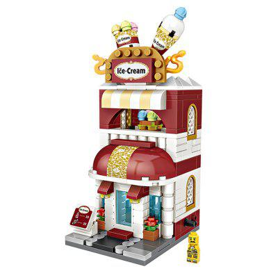 LOZ Mini Ice Cream Shop Model Building Blocks 322pcs