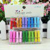 Colorful Wooden Photo Clip with String 20PCS - COLORMIX