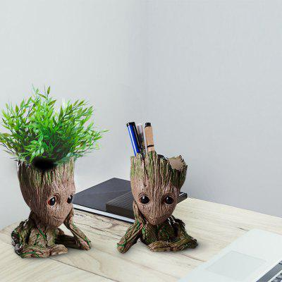 Tree Men PVC Desktop Decoration Flowerpot 1pc