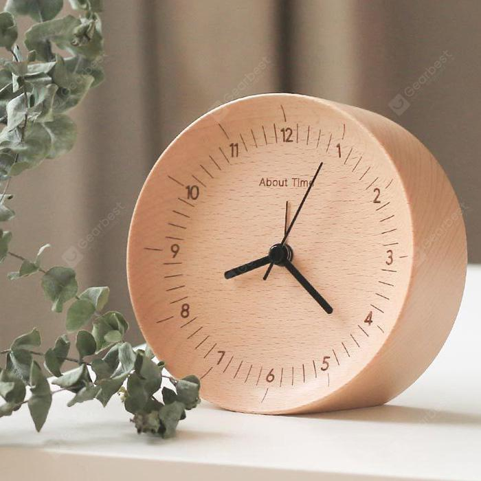 Xiaomi Wood Silent Alarm Clock - BurlyWood