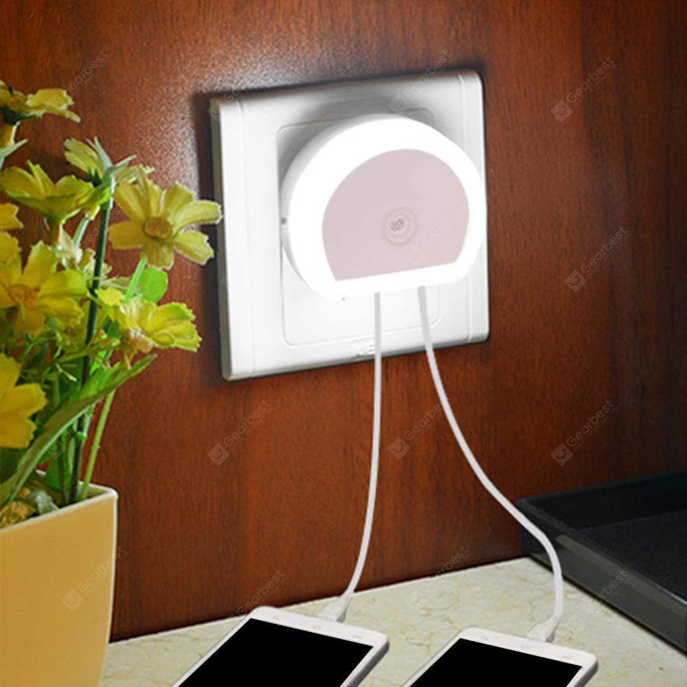 HTV - 777 5V 1A 2 USB Ports Charger with Night Light