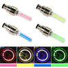 2Pcs Bicycle LED Light Neon Wheel Gas Nozzle Tire Valve Glow Stick Light - BLUE
