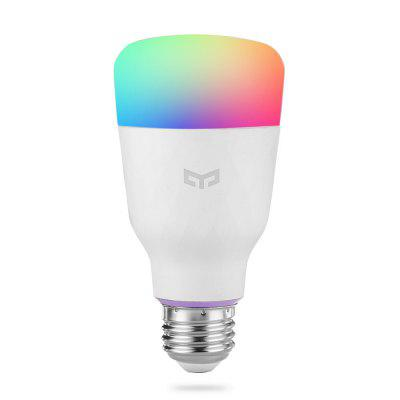 Xiaomi YEELIGHT YLDP06YL Smart Light Bulb 10W RGB E27 original xiaomi yeelight e27 smart led bulb wifi smartphone control rgb lamp