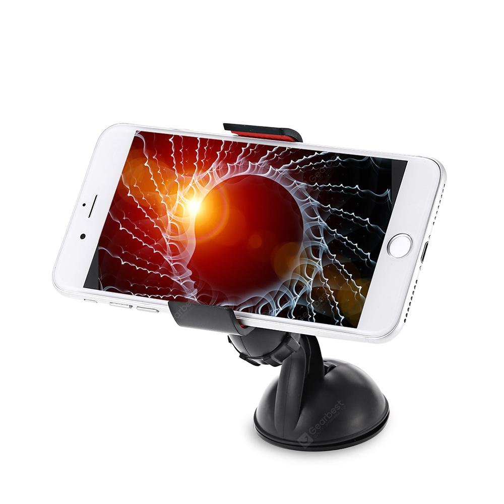 360 Degree Rotary Vacuum Chuck Car Phone Holder - BLACK