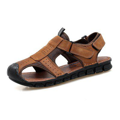 Men Fashion Anti-slip Hollow-out Leather Sandals