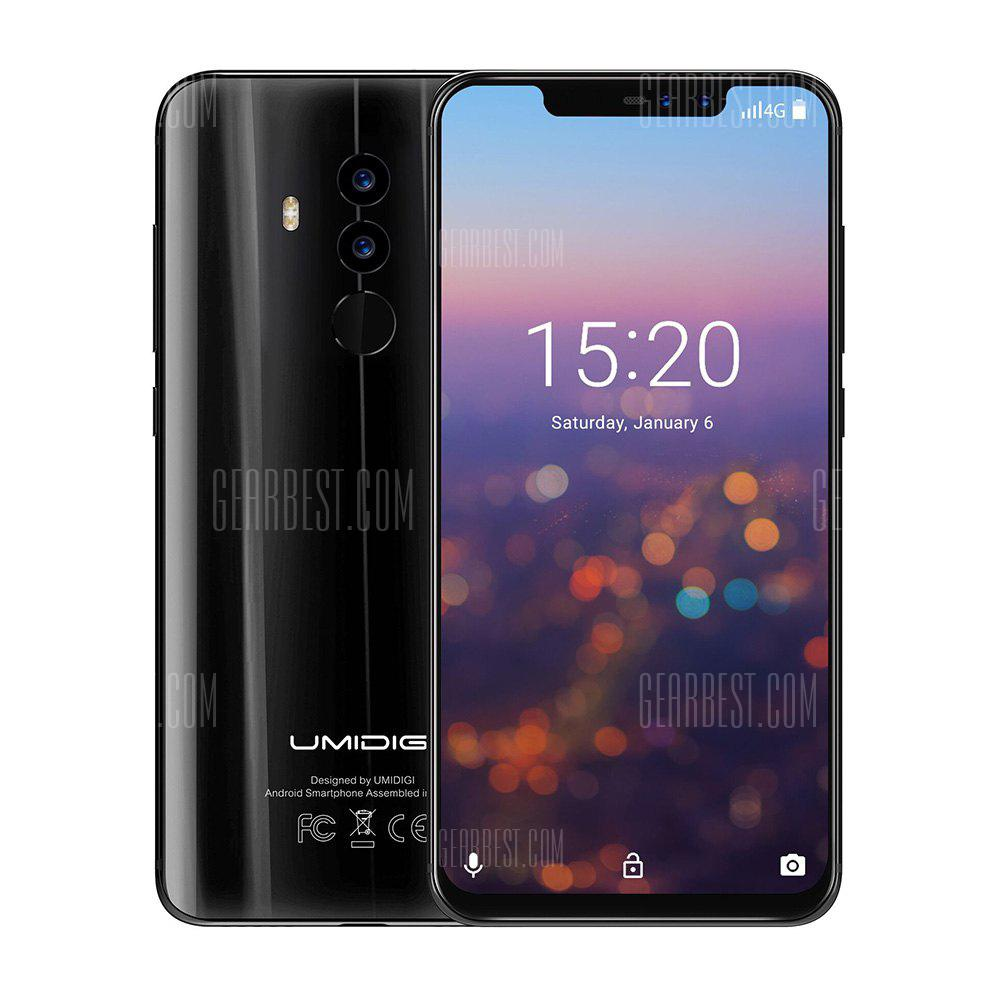 UMIDIGI Z2 6.2 Inch Quad Cameras Notch Full Screen 6GB RAM 64GB ROM MTK6763 Octa Core 4G Smartphone