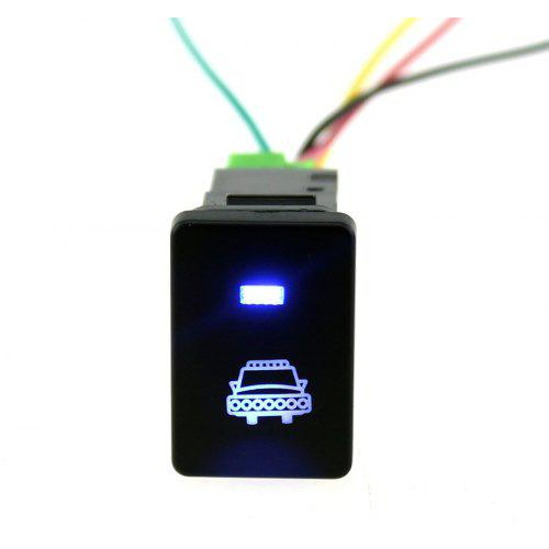 Rear Lights IZTOSS Blue LED Push Switch with Connector Wire Kit for Toyota